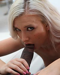 Emily Right Black Cock Sucking
